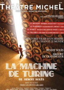, La Machine de Turing – Théâtre Michel jusqu'au 31 Aout 2019