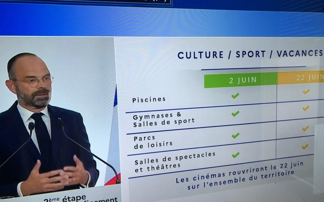 Annonces Edouard Philippe du 22 mai 2020 : Déconfinement Phase 2