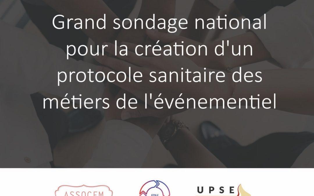 Grand sondage national pour la création d'un protocole sanitaire des métiers de l'événementiel