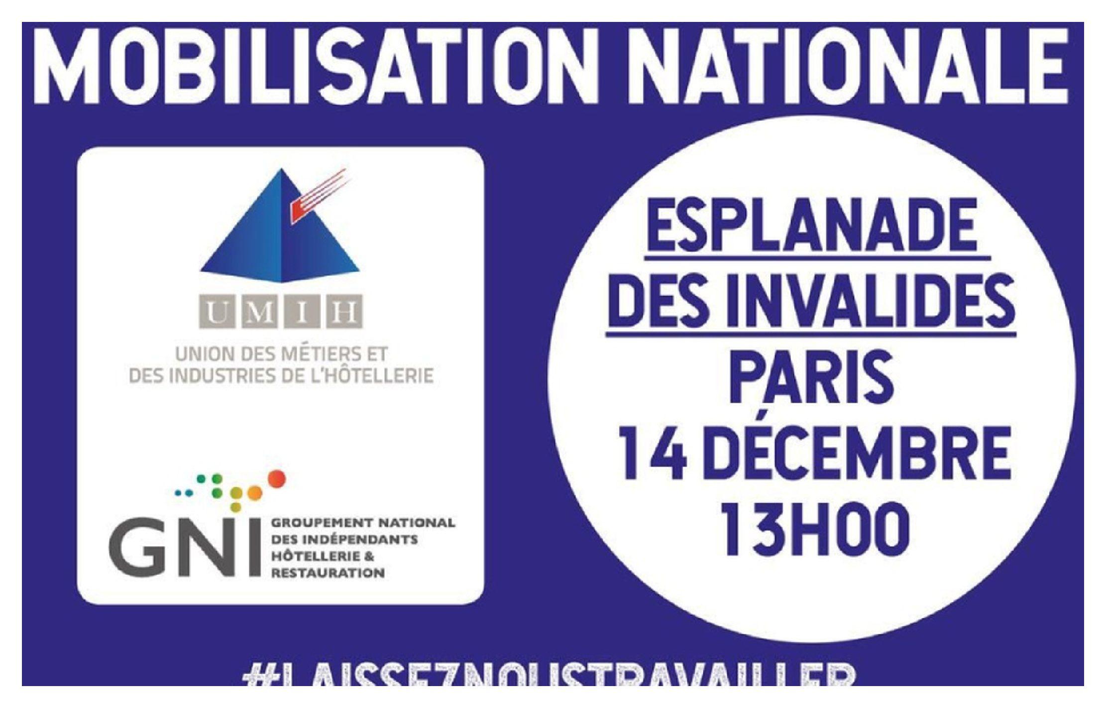 La filière HCR et Événementielle : Le rendez vous du 14 décembre – Esplanade des invalides –